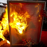 Burning art pieces